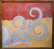 Νωπογραφία χταποδιών Minoan Στοκ Εικόνα
