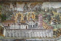 Νωπογραφίες και έργα ζωγραφικής στο μοναστήρι Bachkovo Στοκ Φωτογραφία