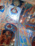 Νωπογραφίες μέσα στον καθεδρικό ναό μεταμόρφωσης του μοναστηριού λυτρωτών του ST Euthymius, Ρωσία, Σούζνταλ Στοκ Εικόνες