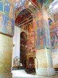 Νωπογραφίες μέσα στον καθεδρικό ναό μεταμόρφωσης του μοναστηριού λυτρωτών του ST Euthymius, Ρωσία, Σούζνταλ Στοκ φωτογραφίες με δικαίωμα ελεύθερης χρήσης