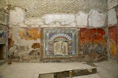 Νωπογραφίες σε Casa Neptunus, Herculaneum στοκ εικόνες με δικαίωμα ελεύθερης χρήσης