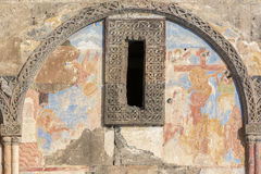 Νωπογραφίες της εκκλησίας Tigran Honents στην αρχαία πόλη Ani, Kars, Τούρκος Στοκ Εικόνες