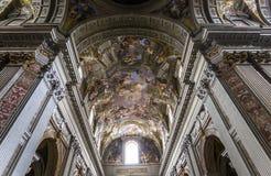 Νωπογραφίες της Andrea Pozzo στα ανώτατα όρια εκκλησιών του Ignazio sant, Ρώμη, Ital Στοκ φωτογραφίες με δικαίωμα ελεύθερης χρήσης