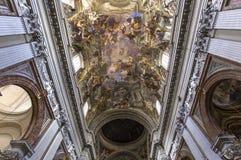 Νωπογραφίες της Andrea Pozzo στα ανώτατα όρια εκκλησιών του Ignazio sant, Ρώμη, Ital Στοκ εικόνες με δικαίωμα ελεύθερης χρήσης