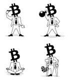 Νόμισμα-άτομο Bitcoin τέτοιος επιχειρηματίας Ελεύθερη απεικόνιση δικαιώματος