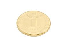 Νόμισμα ένα ουκρανικό hryvnia σε ένα ελαφρύ υπόβαθρο Στοκ Φωτογραφίες
