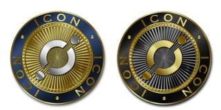 Νόμισμα ΕΙΚΟΝΙΔΊΩΝ Cryptocurrency Διανυσματική απεικόνιση