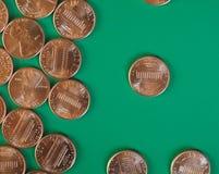 Νόμισμα ενός δολαρίου σεντ, Ηνωμένες Πολιτείες με το διάστημα αντιγράφων Στοκ εικόνα με δικαίωμα ελεύθερης χρήσης