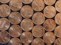 Νόμισμα ενός δολαρίου σεντ, Ηνωμένες Πολιτείες πέρα από το Μαύρο Στοκ φωτογραφία με δικαίωμα ελεύθερης χρήσης