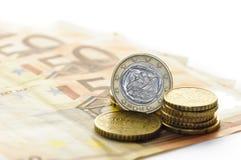 νόμισμα ευρο- ελληνικό Στοκ Εικόνες