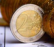 νόμισμα ευρωπαϊκά Στοκ φωτογραφίες με δικαίωμα ελεύθερης χρήσης