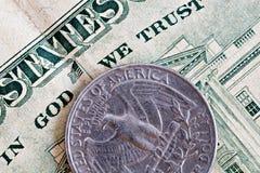 νόμισμα ΗΠΑ Στοκ Εικόνα