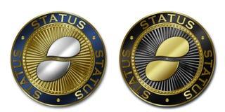 Νόμισμα ΘΕΣΗΣ Cryptocurrency Διανυσματική απεικόνιση