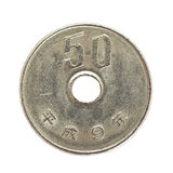 νόμισμα 50 ιαπωνικό γεν στοκ εικόνα με δικαίωμα ελεύθερης χρήσης