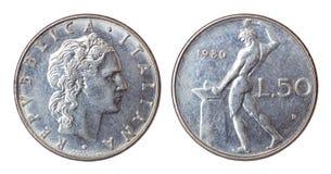 νόμισμα Ιταλία αναδρομική Στοκ φωτογραφίες με δικαίωμα ελεύθερης χρήσης