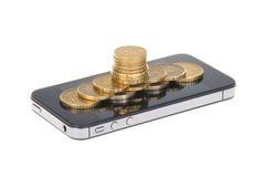 Νόμισμα και επιχείρηση Στοκ Εικόνα