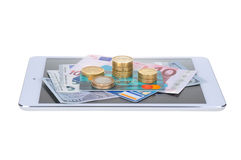 Νόμισμα και επιχείρηση Στοκ φωτογραφίες με δικαίωμα ελεύθερης χρήσης