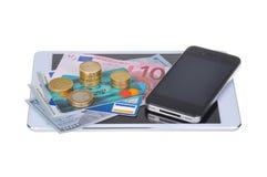 Νόμισμα και επιχείρηση Στοκ Εικόνες