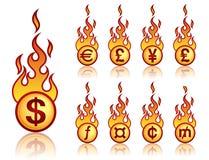 νόμισμα καψίματος Στοκ Φωτογραφίες