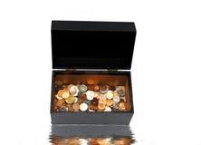 νόμισμα μαύρων κουτιών στοκ φωτογραφίες