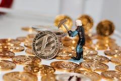 Νόμισμα μεταλλείας Litecoin Στοκ Εικόνα