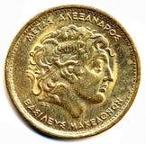 Νόμισμα με την εικόνα του Αλεξάνδρου της Μακεδονίας Στοκ Φωτογραφία