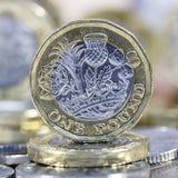 Νόμισμα μιας λίβρας - βρετανικό νόμισμα Στοκ φωτογραφία με δικαίωμα ελεύθερης χρήσης