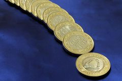 Νόμισμα νομισμάτων του Μπαχρέιν Στοκ Φωτογραφία