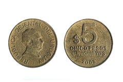 Νόμισμα Ουρουγουανών πέντε πέσων Στοκ Φωτογραφία