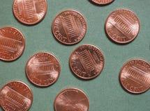 Νόμισμα δολαρίων (Δολ ΗΠΑ), νόμισμα των Ηνωμένων Πολιτειών (ΗΠΑ) Στοκ εικόνα με δικαίωμα ελεύθερης χρήσης