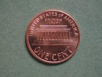Νόμισμα δολαρίων (Δολ ΗΠΑ), νόμισμα των Ηνωμένων Πολιτειών (ΗΠΑ) Στοκ Φωτογραφίες