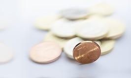 νόμισμα σεντ ευρο- Στοκ Εικόνα