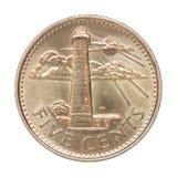 Νόμισμα σεντ των Μπαρμπάντος Στοκ Φωτογραφίες