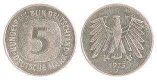 Νόμισμα σημαδιών Deutsch Στοκ φωτογραφία με δικαίωμα ελεύθερης χρήσης