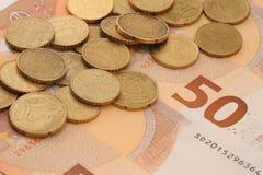 Νόμισμα της Ευρωπαϊκής Ένωσης στοκ εικόνες