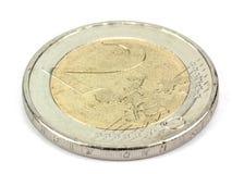 2 νόμισμα της ΕΥΡ - νόμισμα της ΕΕ Στοκ φωτογραφίες με δικαίωμα ελεύθερης χρήσης