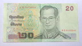 Νόμισμα της Ταϊλάνδης. Στοκ Φωτογραφία