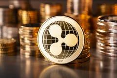 Νόμισμα του κυματισμού Cryptocurrency στοκ φωτογραφίες