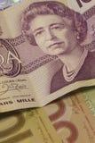 Νόμισμα/Bill καναδικών δολαρίων Στοκ Φωτογραφίες