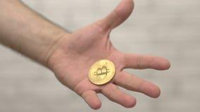 Νόμισμα Bitcoin διαθέσιμο απόθεμα βίντεο