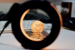 Νόμισμα Bitcoin μετάλλων Στοκ φωτογραφία με δικαίωμα ελεύθερης χρήσης
