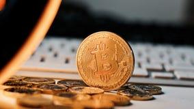 Νόμισμα Bitcoin μετάλλων Στοκ Εικόνες