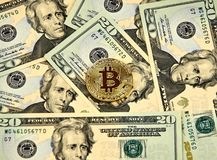 Νόμισμα cryptocurrency Bitcoin Στοκ εικόνα με δικαίωμα ελεύθερης χρήσης