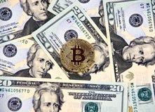 Νόμισμα cryptocurrency Bitcoin Στοκ φωτογραφία με δικαίωμα ελεύθερης χρήσης