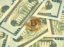 Νόμισμα cryptocurrency Bitcoin Στοκ Εικόνες