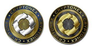 Νόμισμα Cryptocurrency CRYPTONEX Στοκ Εικόνα