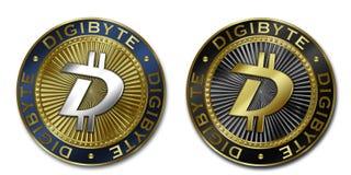 Νόμισμα Cryptocurrency DIGIBYTE Στοκ Εικόνες