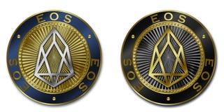 Νόμισμα cryptocurrency EOS Διανυσματική απεικόνιση