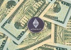 Νόμισμα cryptocurrency ETHEREUM Στοκ Εικόνες