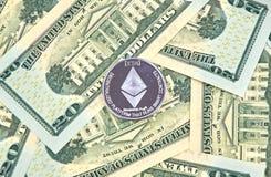 Νόμισμα cryptocurrency ETHEREUM Στοκ φωτογραφία με δικαίωμα ελεύθερης χρήσης